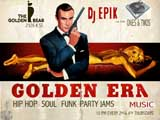 picture of golden era music flyer goldfinger themed