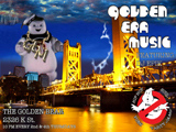 picture of golden era music flyer ghostbuster themed