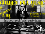picture of golden era music flyer taxi driver themed